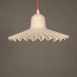 ruffled light – large - view this item on our website for more information + purchasing availability: http://redinfred.com/shop/category/detail/lighting/ruffled-light-large/