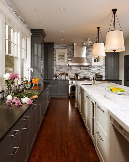 Transitional Kitchen by Studio Swann | Custom Kitchens & Baths