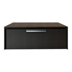 Modloft - Thompson Nightstand, Wenge - The Thompson sleek one-drawer nightstand with chrome handle, featuring a thin grooved front panel frame. Available in wenge or walnut finishes. Also available in white lacquer finish. Assembly required. Imported.