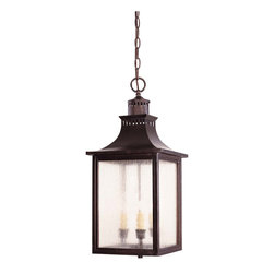 Savoy House - Savoy House 5-256-13 Monte Grande Hanging Lantern - A grand welcome for any stately address ? at an incredible price. finished in English Bronze with pale cream seedy glass, these fixtures create an easy appearance of unmistakable exterior elegance.