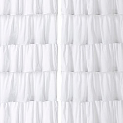 Cottage Home - Cotton Ruffled Layered 96-inch Curtain Panel - Beautifully constructed curtain panel made for all ages can be used in any room for a fresh feel. Made from 100-percent cotton each ruffle is stitched together for an elegant look.