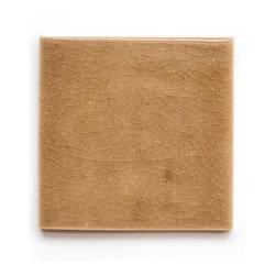 822 Mocha Cream (Crackle and Glossy Finish) - Handmade Ceramic Tile - Handmade Ceramic Tile