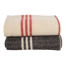 Coyuchi Striped Wool Blankets - Classic stripes and cozy wool — this throw is at the top of my list!