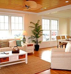 tropical living room by Just Perfect! Home Staging + More