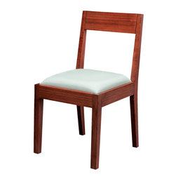 Greenington Bamboo - Greenington Bamboo Hazel Bamboo Upholstered Chair - Dark Chocolate -
