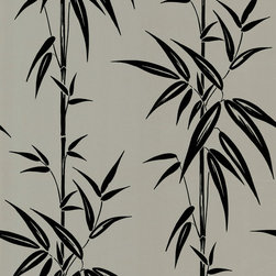 Beacon House - Saharan Pewter Bamboo Stalk Wallpaper - Give your walls a calming, modern pattern with this bamboo stalk design. This prepasted, non-woven material wallpaper was made in the United Kingdom, and is built to last. This versatile roll gives you 56.38 square feet of washable, strippable, peaceful paper.