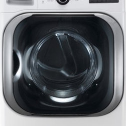 """LG - DLGX8001W SteamDryer Series 9.0 cu. ft. Mega Capacity 29"""" Wide Front Load Gas St - The LG DLGX8001 90 Cu Ft Gas Dryer with steam performs big enough for your most ambitious loads Smart enough to make sure everything dries perfectly with 14 drying programs including Steam Fresh Steam Sanitary Wool Speed Dry Air Dry and Super Dry Ste..."""