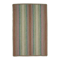 """Homespice Décor - 20"""" x 30"""" Morning Garden Rectangle - Enjoy this cheerful collection of rose, cranberry, green, blue, cream and coral while you sip your first cup of coffee or tea. There is no need to compromise beauty for durability. Our Ultra Durable indoor/outdoor rugs are amazing. They resist stains from food, pets, and liquids, while adding color, texture and interest to all your living spaces. This amazing absorbent material leaves the surface below dry with most moderate spills. To clean, simply run under water in your sink or use a hose. These Ultra Durables are thinner and flatter and feature a vertical braid with anti-skid backing. Perfect for kitchens, baths, and entry ways.   Rinse or hose with water and lay flat to dry. May use a mild detergent. Vacuum regularly using a hard surface attachment. Vacuuming with a beater brush is not recommended."""