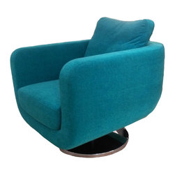 Cliff Young Ltd. - Orion Chair - Swivel chair is available in a fabric with a chrome base.