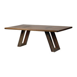 "Four Hands - Bobby 84"" Dining Table - For great meals — and great memories — invite this dining table into your modern home. Each piece is hand-crafted from reclaimed or sustainably harvested wood — and note the legs that whimsically resemble old window frames."