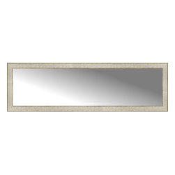 """Posters 2 Prints, LLC - 56"""" x 17"""" Libretto Antique Silver Custom Framed Mirror - 56"""" x 17"""" Custom Framed Mirror made by Posters 2 Prints. Standard glass with unrivaled selection of crafted mirror frames.  Protected with category II safety backing to keep glass fragments together should the mirror be accidentally broken.  Safe arrival guaranteed.  Made in the United States of America"""