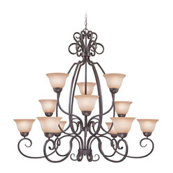 Sheridan Forged Metal 12 Light Chandelier