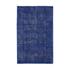 Kaleen - Contemporary Restoration 8'x10' Rectangle Blue Area Rug - The Restoration area rug Collection offers an affordable assortment of Contemporary stylings. Restoration features a blend of natural Blue color. Hand Knotted of 100% Wool the Restoration Collection is an intriguing compliment to any decor.