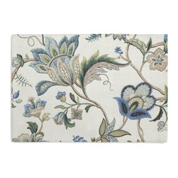 Blue Jacobean Floral Custom Placemat Set - Is your table looking sad and lonely? Give it a boost with at set of Simple Placemats. Customizable in hundreds of fabrics, you're sure to find the perfect set for daily dining or that fancy shindig. We love it in this sophisticated jacobean floral in bright classic shades of blue. perfect for the new traditionalist.