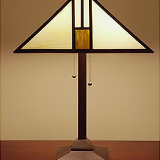 Table Lamps Tiffany-style White Mission-style Table Lamp