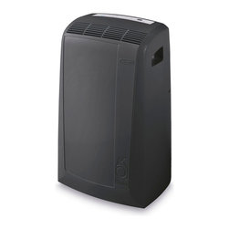 Delonghi - DeLonghi PACN130HPE Pinguino N Series 13,000 BTU 115-Volt Air-to-Air Portable Ai - The DeLonghi PACN130HPE Pinguino N Series 13,000 BTU 115-Volt Air-to-Air Portable Air Conditioner with Heat Pump offers cooling and supplemental heating comfort for rooms up to 500 square feet. Use it all year round! The easy-to-Use Electronic Climate Control (ECC) panel includes a 24-Hour digital timer and digital thermostat. The intelligent remote control allows you to operate the ECC from across the room. The exclusive Condensate Recirculation system recycles the condensation within the machine for dripless, bucketless operation. Additional features include quiet mode, separate dehumidifying function, separate fan function and Eco-Friendly R410A refrigerant. This unit is easily portable with durable castor wheels and Side-Carry handles so you can use it where you need it, when you need it. The easy 5-minute set up requires no tools (window bracket and exhaust hose are included).Pinguino N series 13,000 BTU 115-volt air-to-air portable air conditioner with 3810-Watt heat pump.