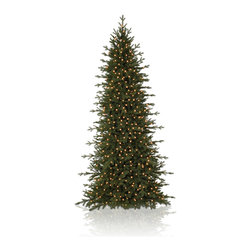 "Balsam Hill - 15' Balsam Hill® Red Spruce Slim Pre-Lit Artificial Christmas Tree - From the reddish-brown branches to the light-green leaves, our Red Spruce Slim artificial Christmas tree is perfect for entryways, hallways, or anywhere you'd like to display a full-height tree with a smaller diameter. This 15 foot pre-lit easy setup tree will sparkle and dazzle with its Clear warm lights. Setting up those lights will be a cinch with our Easy Plug� design, which eliminates tangled light strings and automatically connects them through the trunk of the tree. Also included with this tree is a scratch-proof tree stand, soft cotton gloves for shaping the tree, storage bag, extra bulbs and fuses, and an on/off foot pedal for lights. As the best artificial Christmas tree manufacturer that is the #1 choice for set designers for TV shows such as ""Ellen"" and ""The Today Show"", in addition to being a recipient of the Good Housekeeping Seal of Approval, our trees are backed by either a 10-year or 5-year foliage warranty (depends on the size of the tree) and a 3-year light warranty. Free shipping when you buy today!"
