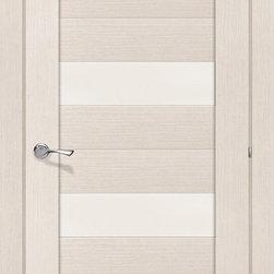 Modern Interior Doors - Milano- bleached oak modern interior door with glass. Solid core finished with oak veneer. $440 includes door slab and door frame.
