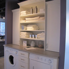 Traditional Laundry Room Appliances by Superior Cabinets