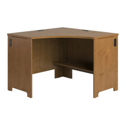 Bush - Envoy Corner Desk - Professional-grade Envoy offers a contemporary flair for today's office. With the highly configurable Envoy collection, you can start with one desk, but still have freedom to expand easily and efficiently as your needs change. Features: -Envoy collection. -CableQues underneath desk keep wires organized. -Durable thermally fused laminate work surfaces. -Assembly required. -Made in USA. -Manufacturer provides 6 years warranty for replacement parts.