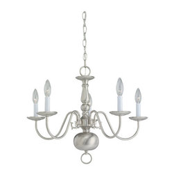 "Sea Gull Lighting - Sea Gull Lighting 3410 Williamsburg 5 Light Up Lighting Chandelier from the Trad - *Traditional colonial styling-graceful, authentic detailing to delight the eyeGlass or Shades Sold SeparatelyOverall Height with Chain: 56-1/2"", supplied with 12 feet of wire5 60w Candelabra Base Required (Not Included)"
