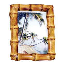 "Bamboo54 - Bamboo Root Natural Picture Frame - 8"" x 10"" - Natural bamboo root picture frame in 2 sizes:"