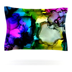 "Kess InHouse - Claire Day ""A Little Out There"" Pillow Sham (Woven, 30"" x 20"") - Pairing your already chic duvet cover with playful pillow shams is the perfect way to tie your bedroom together. There are endless possibilities to feed your artistic palette with these imaginative pillow shams. It will looks so elegant you won't want ruin the masterpiece you have created when you go to bed. Not only are these pillow shams nice to look at they are also made from a high quality cotton blend. They are so soft that they will elevate your sleep up to level that is beyond Cloud 9. We always print our goods with the highest quality printing process in order to maintain the integrity of the art that you are adeptly displaying. This means that you won't have to worry about your art fading or your sham loosing it's freshness."