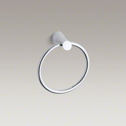 KOHLER - KOHLER Toobi(TM) towel ring - The versatile and simple style of Toobi accessories complements both traditional and modern bathrooms. This towel ring features a design inspired by the serene, organic beauty of Asian gardens.