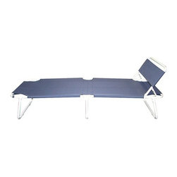 """Trademark Global - Folding Bed - Looking for a quick and easy way to accommodate for guests staying over? This guest bed is just enough and folds up to be slimmer than 6 inches to easily slide under most beds.The bed comes completely assembled, simply unfold and enjoy! When it is not a bed, it can be adjusted to a comfy recliner or take it outside and lay out with the sun. It doesn't have to just be for the guests! Features: -Adjustable folding guest bed with headrest.-Easy fold up and down bed.-Adjustable headrest.-Space saving design.-Adjustable foot rest.-Powder Coated Finish: No.-Gloss Finish: No.-Finish: White.-Hardware Finish: Silver.-Frame Material: Aluminum.-Upholstered: No.-Hardware Material: Metal screws.-Non Toxic: Yes.-Scratch Resistant: No.-Mattress Included: No.-Box Spring Required: No.-Headboard Storage: No.-Footboard Storage: No.-Underbed Storage: No.-Slats Required: No.-Center Support Legs: No.-Adjustable Headboard Height: Yes.-Adjustable Footboard Height: Yes.-Wingback: No.-Trundle Bed Included: No.-Attached Nightstand: No.-Cable Management: No.-Built in Outlets: No.-Lighted Headboard: No.-Finished Back: No.-Reclaimed Wood: No.-Distressed: No.-Bed Rails Included: No.-Collection: Tools.-Eco-Friendly: No.-Recycled Content: No.-Wood Moldings: No.-Canopy Frame: No.-Hidden Storage: No.-Jewelry Compartment: No.-Weight Capacity: 300 lbs.-Swatch Available: No.-Commercial Use: No.Specifications: -FSC Certified: No.-EPP Compliant: No.-CPSIA or CPSC Compliant: No.-CARB Compliant: No.-JPMA Certified: No.-ASTM Certified: Yes.-ISTA 3A Certified: Yes.-PEFC Certified: Yes.-General Conformity Certificate: Yes.-Green Guard Certified: Yes.Dimensions: -Overall Height - Top to Bottom: 27"""".-Overall Width - Side to Side: 25.5"""".-Overall Depth - Front to Back: 76"""".-Overall Product Weight: 15 lbs.-Headboard Dimensions Height: 16"""".-Headboard Width Side to Side: 25.5"""".-Headboard Depth Front to Back: 1"""".-Top of Headboard to Bedframe: 16"""".-Bottom of Side Rail to Floor: 12"""".Asse"""