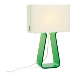 Pablo Designs - Tube Top Table Lamp in Green - Features: