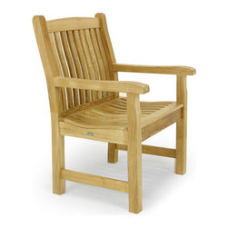 "Westminster Teak Furniture - Veranda Teak Armchair - And the winner is…The ""Wall Street Journal gave this chair a rating of best overall. And with a lifetime warranty and satisfaction guaranteed, it's easy to see why. But, all you'll really care about is its quality design, good looks and comfortable lumbar backrest and scooped seat."