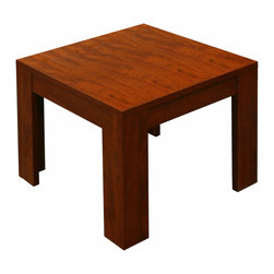 """Boss Chairs - Boss Chairs Boss Square End Table in Cherry - 22"""" end table in rich Cherry finish."""