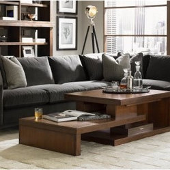 Lexington Home Brands 11 South Cascade Rectangle Umbria Wood Coffee Table