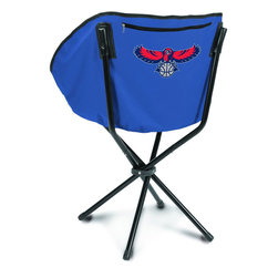 """Picnic Time - Atlanta Hawks Sling Chair in Navy - The Sling Chair by Picnic Time is a portable, folding chair you can take anywhere. The chair opens to 20"""" wide x 14"""" deep x 30"""" high. No loose parts It's so compact and convenient, you may just want to keep it in the trunk of your car!; Decoration: Digital Print; Includes: 1 nylon drawstring carry bag"""