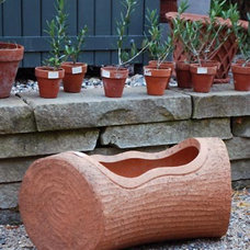 eclectic outdoor planters by Detroit Garden Works