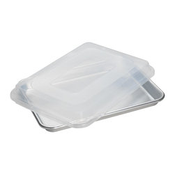 "Nordic Ware - Nordic Ware 9 x 13 Quarter Sheet Baking Pan with Lid (4 Pack) (45303) - Nordic Ware 45303 9"" X 13"" Quarter Sheet Baking Pan with Lid (4 Pack)"