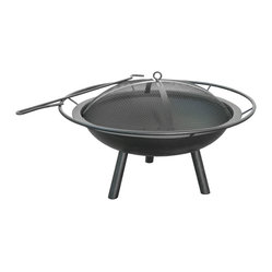 Halo Fire Pit with Steel Bowl, Ring & Poker