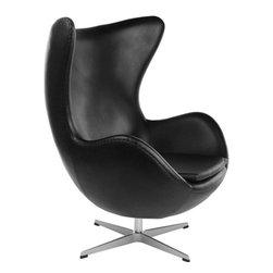 Inner Chair, Black Leather -