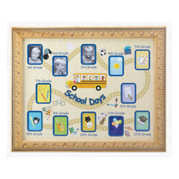 KOOLEKOO - School Days Photo Frame - Fun photo frame traces your child's progress through school from start to finish! A warm-hearted way to display your ongoing pride as your favorite student makes his or her way towards graduation.