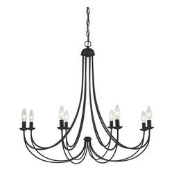 Quoizel - Quoizel MRN5008IB Mirren Transitional Chandelier - A clean design enhanced by an imperial bronze finish, Mirren is more transitional with a less formal styling.  The sweeping arms create a slim silhouette and the candelabra bulbs emit a soft light for a warm, romantic glow.  A great fit for many home design styles.