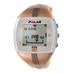 Polar FT4 Womens Heart Rate Monitor Watch - Automatically sets target zone based on age and heart rate Heart rate measured in beats per minute or percentage of maximum rate Displays average heart rate and maximum rate while training Plays visual and audible alarm when you are outside of your set target zone to help maintain your proper intensity level Max heart rate and target zone can be set by computer or manually Graphical indicator gives you easy, one-glance display of your target zone and current intensity level Shows how many calories you've burned Holds 10 training files with summaries; records training data starting from last reset to show trends and progress HeartTouch function provides button-free operation so you can get training information while wearing gloves or otherwise unable to conveniently press buttons Coded transmission prevents interference from nearby devices; your monitor will only receive information from your Chest transmitter Attractive design so you can wear it as a watch even when not training Watch features include backlight, date and weekday indicator, dual time zones, low battery indicator, and time display in 12- or 24-hour format KeyLock prevents accidental button presses during training Display can be set to English, German, Finnish, Swedish, French, Portuguese, Spanish, or Italian User-replaceable battery Water resistant to 30 meters Manufacturer's warranty included - see Product Guarantee area for complete details About Polar ElectroTrue expertise in sports, physiology, and electronics has helped Polar Electro maintain leadership in sports technology and heart rate monitors since 1977. Their products help you understand what your body is saying in order to effectively target workouts. These products cater to people of all fitness levels, and are backed by Polar's stellar support and advice. They can help you improve your sports performance, aid rehabilitation and weight management, or just help you enjoy a healthier lifestyle. Polar's team of ambitious and talented professionals are passionate about delivering the very best products and support to their customers. It is this passion that has made Polar Electro a success.