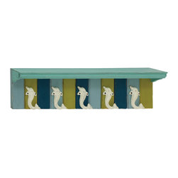 Distinctively Designed Wood Metal Wall Shelf Hook - Description: