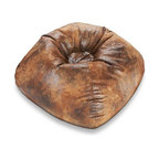 "Ace Bayou - Ace Bayou 9806101 Brown Suede/Faux Leather Bean Bag - 098 Brown Suede/Faux Leather Round Bean Bag. Durable suede/faux leather fabric and double stitched seams for durability. Ergonomic seating position. Great for reading, playing video games, watching TV, relaxing. Approximate dimensions: L 32"" x W 30"" x H 13""."