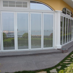 Insulated Glass with Electric Blinds - This blind is assembled and permanently sealed within the double glazing, separately and synchronously by remote control. Being applied with aluminum alloy, PVC, wooden Windows and Doors and Glass Curtain Wall, and it can also be available in partitions combined with marble and so on.