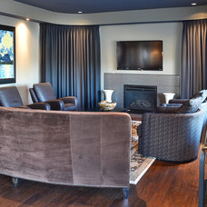 Transitional Family Room by Furnitureland South