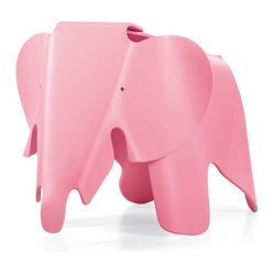 Vitra - Vitra Eames Elephant - Designed by Charles and Ray Eames in 1945 but never before put into production, this playful pachyderm is constructed of durable plastic. Add a whimsical stool or tiny table to your child's bedroom, or put in the playroom to encourage elephant rides! This lightweight piece can easily be carried to the backyard for an insta-picnic.