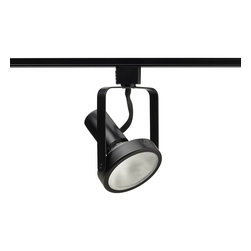 Juno Lighting - Trac-Lites R533 PAR30 Open Back Spotlight Track Light, R533bl - The clean, functional lines of the Open Back Spotlight allows maximum adjustability. The minimum profile with stylized yoke design is ideal for retail and commercial applications.