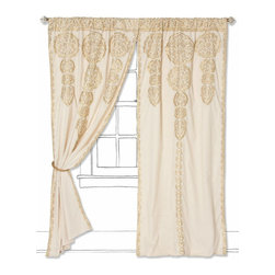Marrakech Curtain, Gold - I love the Moroccan vibe of these curtains.