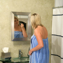 Zenith Products - Zenith Brushed Nickel Surface Mount Medicine Cabinet Multicolor - STM1925 - Shop for Bathroom Cabinets from Hayneedle.com! What We Like About The Brushed Nickel Medicine Cabinet The sleek frame on the Zenith Brushed Nickel Surface Mount Medicine Cabinet will enhance the look of any contemporary bathroom. Three shelves inside offer plenty of storage space for medicines and toiletries while the mirrored front presents a stylish look. And because the holes are pre-drilled you'll have it mounted in no time. About ZenithZenith Products Corporation is America's leading manufacturer of bathroom storage and organizational products for the retail market. Zenith offers a wide line of items and accessories that are both attractive and functional. Customers can choose from bath furniture in a variety of finishes materials sizes and designs. These products are complemented by matching space-savers tank-toppers and storage items that enable homeowners to make maximum use of bathroom space. Zenith helps decorate and organize bath and shower enclosures with its patented Twist-Tight curtain rods and broad range of shower caddies and lotion dispensers available in a wide array of styles and colors. Based in New Castle Del. Zenith products are distributed nationwide through home centers bath specialty shops mass merchants and catalog retailers.