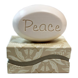 New Hope Soap - Scented Soap Bar, 'Peace,' Pomegranate - Personalized Scented Soap Bar Gift Set Engraved with Beach